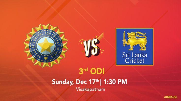 Watch India vs Sri Lanka 3rd ODI Live on SportsTVon.com Check DD Sports, Star Sports 1 & 3, Sky Sports Cricket, Sky Sports MainEvent Etc. [Search on Google by SportsTVon you'll get at the first result. Enjoy]