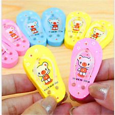 FD2706 □ Sweet Bear Slipper Drawing Painting Rubber Eraser Stationary Gift~1Pair