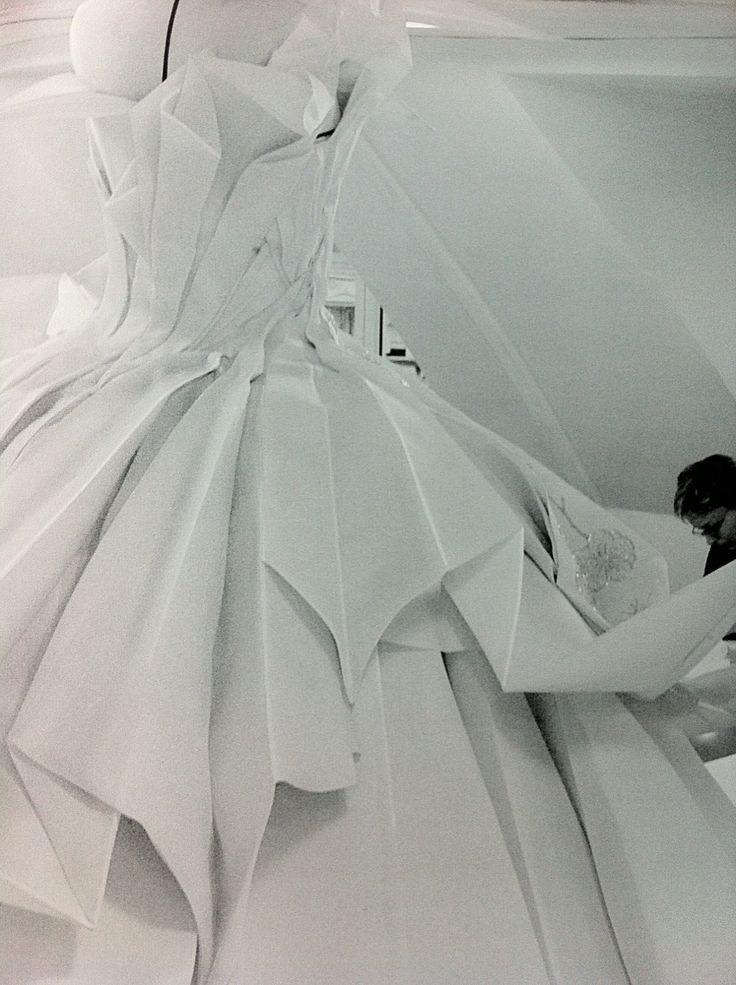 Inside the atelier for Christian Dior haute couture  make sure to have your dress tailored for you!!