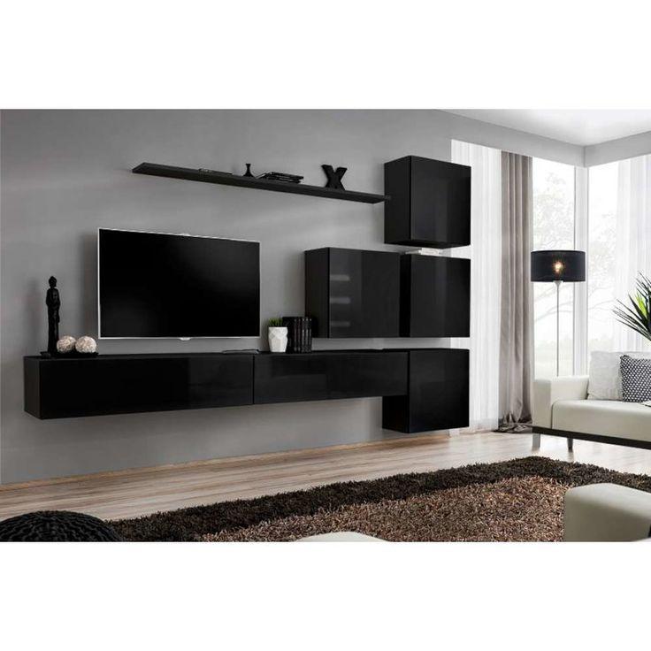 Wohnwand modern schwarz matt  Die 25+ besten Wohnwand schwarz hochglanz Ideen auf Pinterest | Tv ...