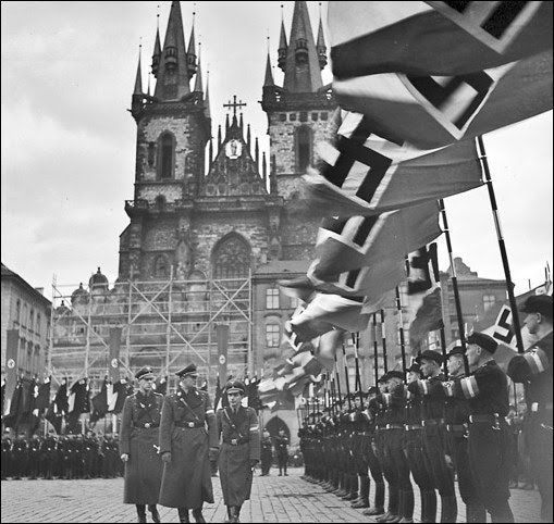 A guided tour through Prague - a tour about Pragues darkest days, the German occupation during world war II. A tour about life under swastika and assassination of third man of third reich Reinhard Heydrich.
