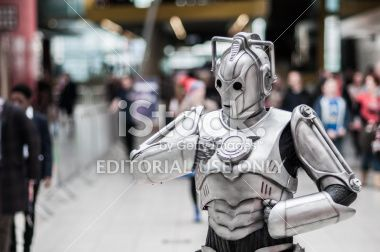 Doctor Who Celebration 2013 - Cyberman Posing Royalty Free Stock Photo #doctorwho #bbc