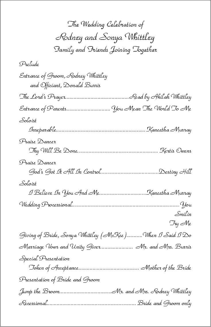 wedding program layout examples koni polycode co