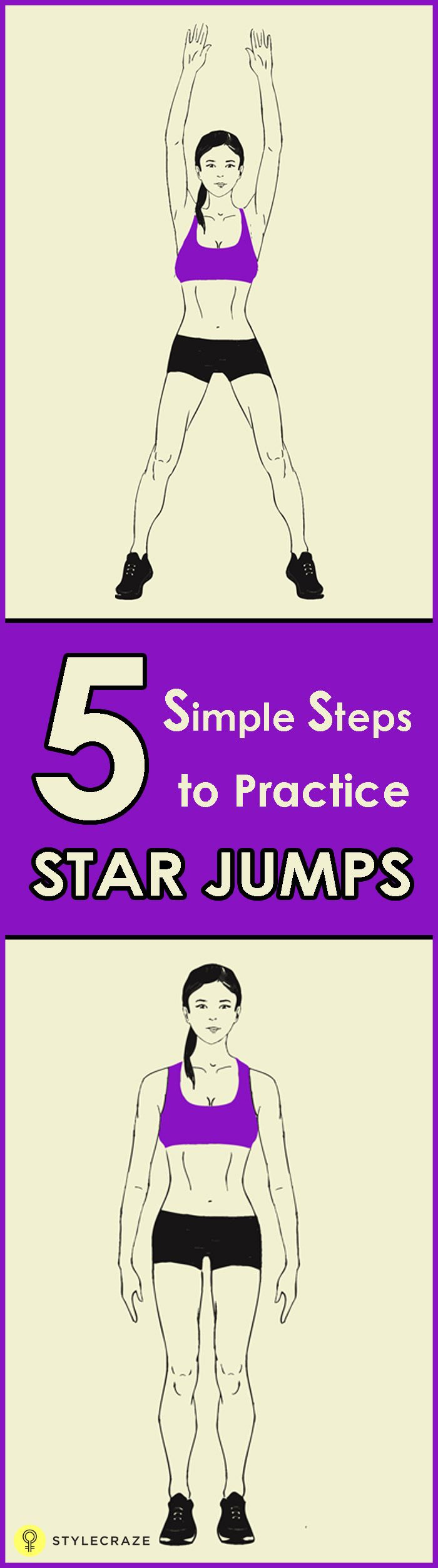 Star jumps, or jumping jacks is a wonderful exercise routine and has great benefits. Would you like to know how to do star jumps and the benefits it offers? Go ahead and read! #fitness