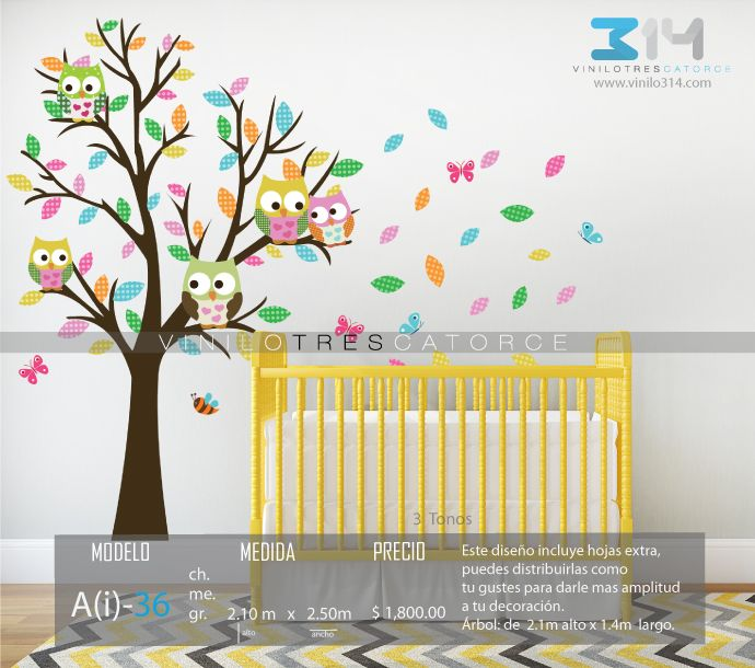 25 best vinilos decorativos arboles infantiles images on - Arboles decorativos ...