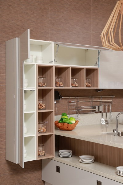 wall cabinet with inserts