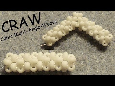 [Anleitung/Tutorial] CRAW (Cubic-Right-Angle-Weave) - DIY [Perlen, RAW, CRAW] - YouTube