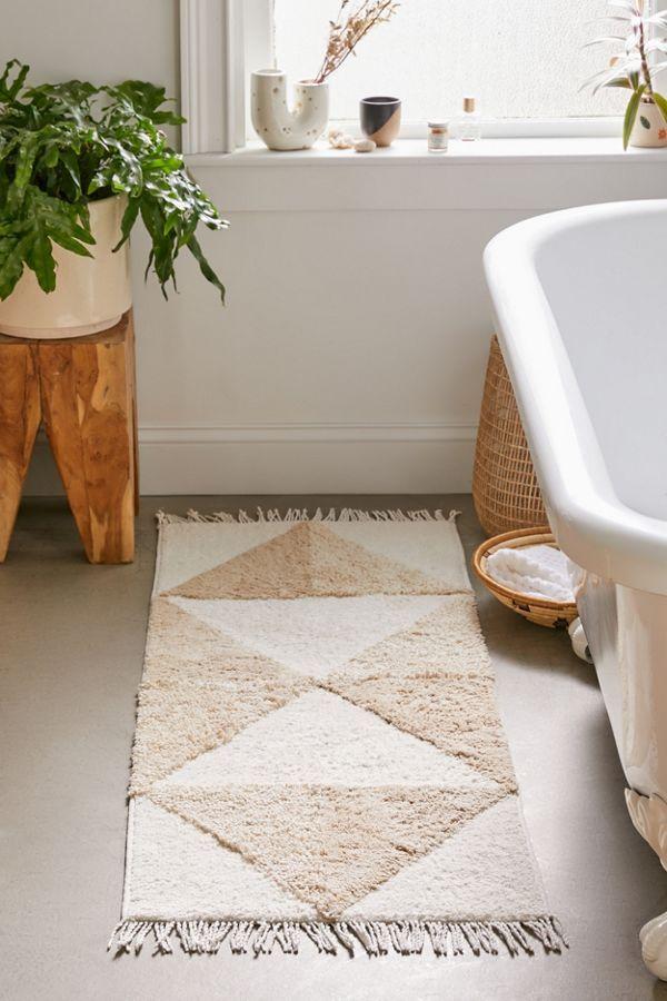 Blair Looped Runner Bath Mat In 2020 Long Bathroom Rugs Bathroom Rugs And Mats Bathroom Rugs