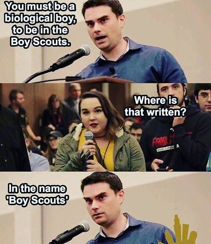 """324 Likes, 9 Comments - Young Conservatives (@youngcons) on Instagram: """"Ben Shapiro for the win! #boyscouts #gender #genderidentity"""""""