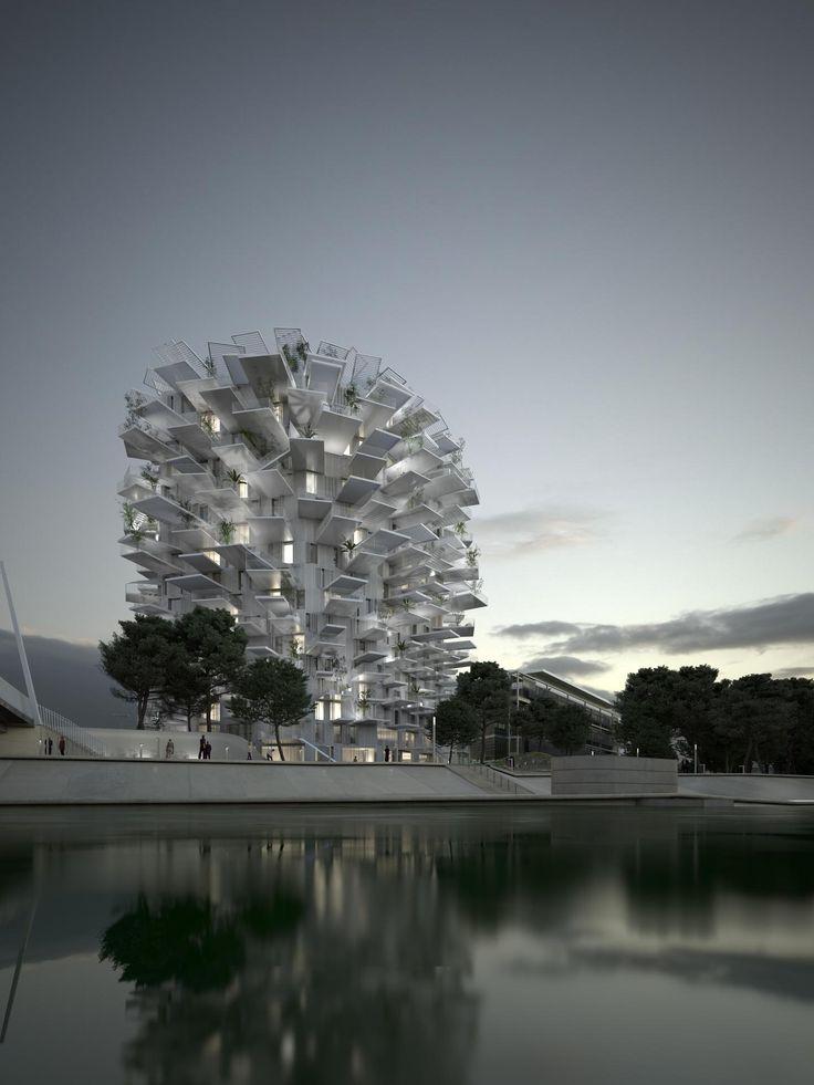 """""""L'Arbre Blanc"""" - a torre multiuso de Sou Fujimoto em Montpellier"""