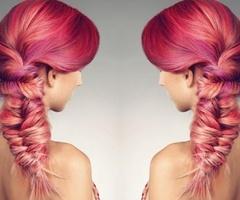 Pink fishtail: Hair 3, Hair Fishtailwithcolor, Hair Ideas, Favorite Hair, Hair Colors, Hair Fashion, Cute Hair, Sexy Hairstyles, Hair Affair