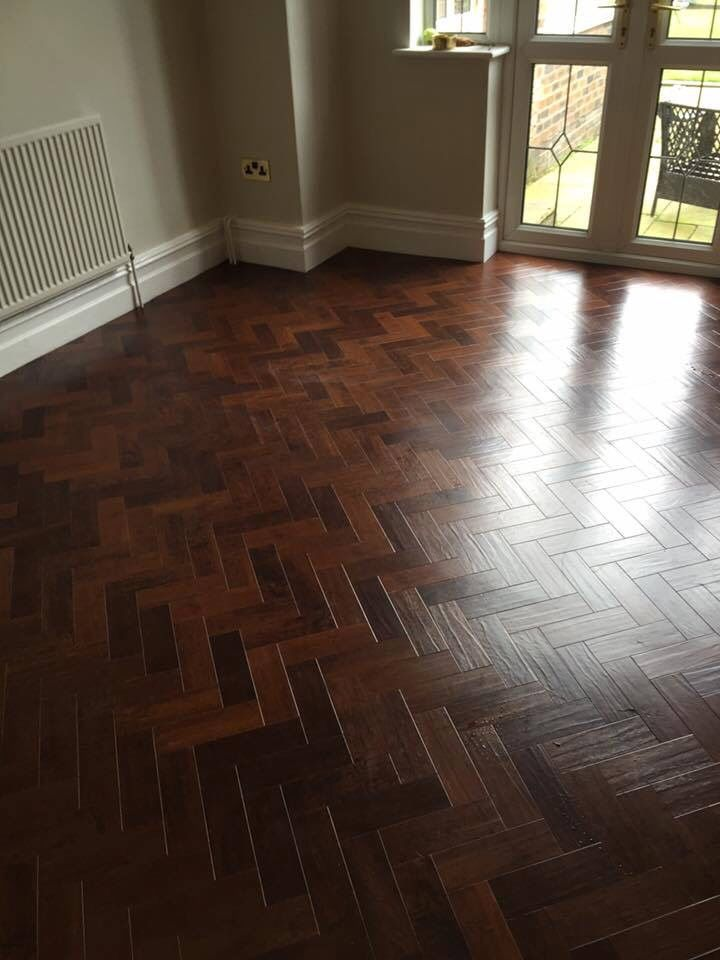Art Select Spanish Cherry Parquet Flooring Office