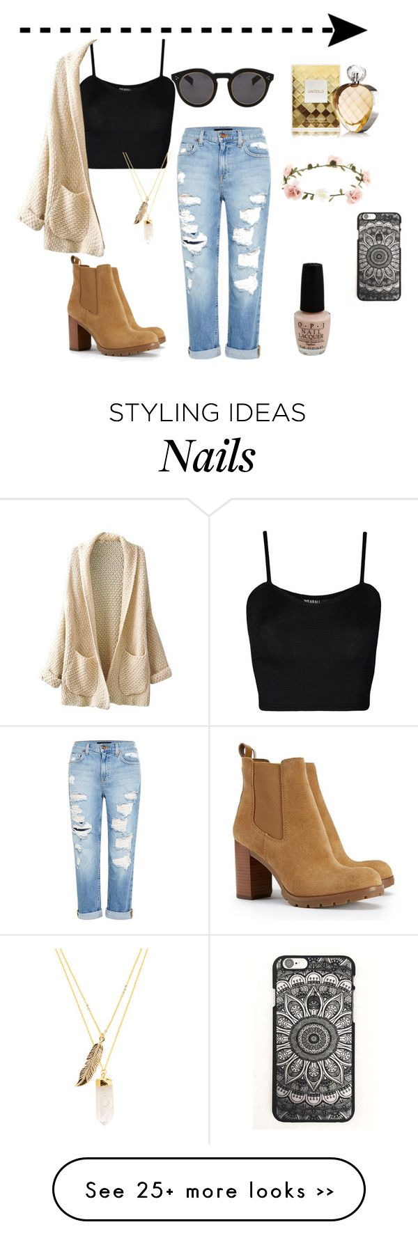 """Casualness"" by bridget-valder on Polyvore featuring WearAll, Illesteva, Genetic Denim, Tory Burch, OPI, Accessorize, Elizabeth Arden and Privileged"
