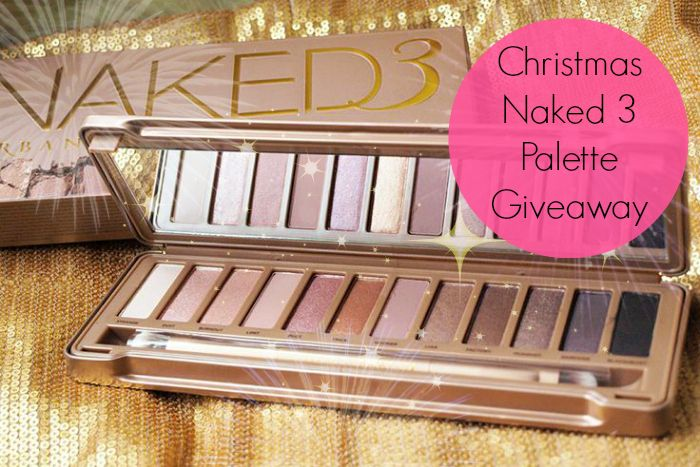 Win an Urban Decay Naked 3 Palette this Christmas with Pretty In Pink Blog