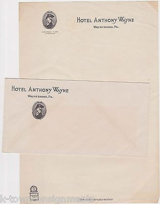 Hotel Anthony Wayne Waynesboro Pa Vintage Ad Stationery Letterhead Cover Discover Best Ideas About Products And Ads