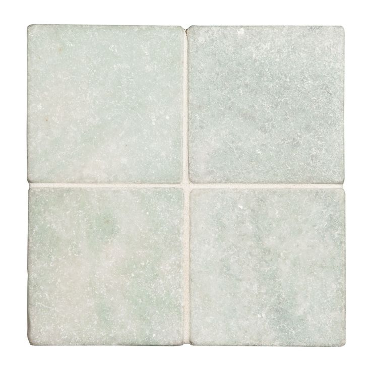 "Complete Tile Collection Natural Stone Marble Tile, Ming Green Tumbled, MI#: 065-MT-105-126, Color: Ming Green, 4 Pieces of 4"" x 4"" Tile"