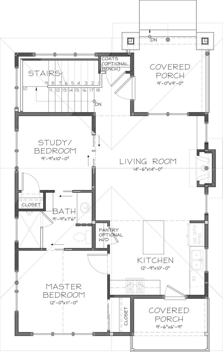 6358 best floor plans images on pinterest house floor plans craftsman style house plan 2 beds 1 baths 980 sq ft plan 895