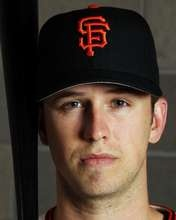 Buster Posey of the San Francisco Giants poses during spring training photo day.  http://www.fansedge.com/Buster-Posey-San-Francisco-Giants-312012-_-1721402082_PD.html?social=pinterest_mlb_32412_posey  #MLB  #Giants