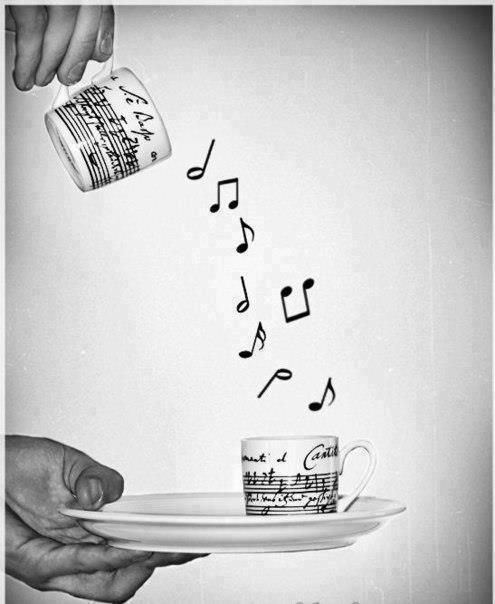 Yep coffee :) Its musical to all the senses hearing the coffee pot , smelling it brewing , and touching it to pour that cup of morning LIFE and Ahhhhh the TASTE, Yes :) Thank You Jesus ♡GOODMORNING