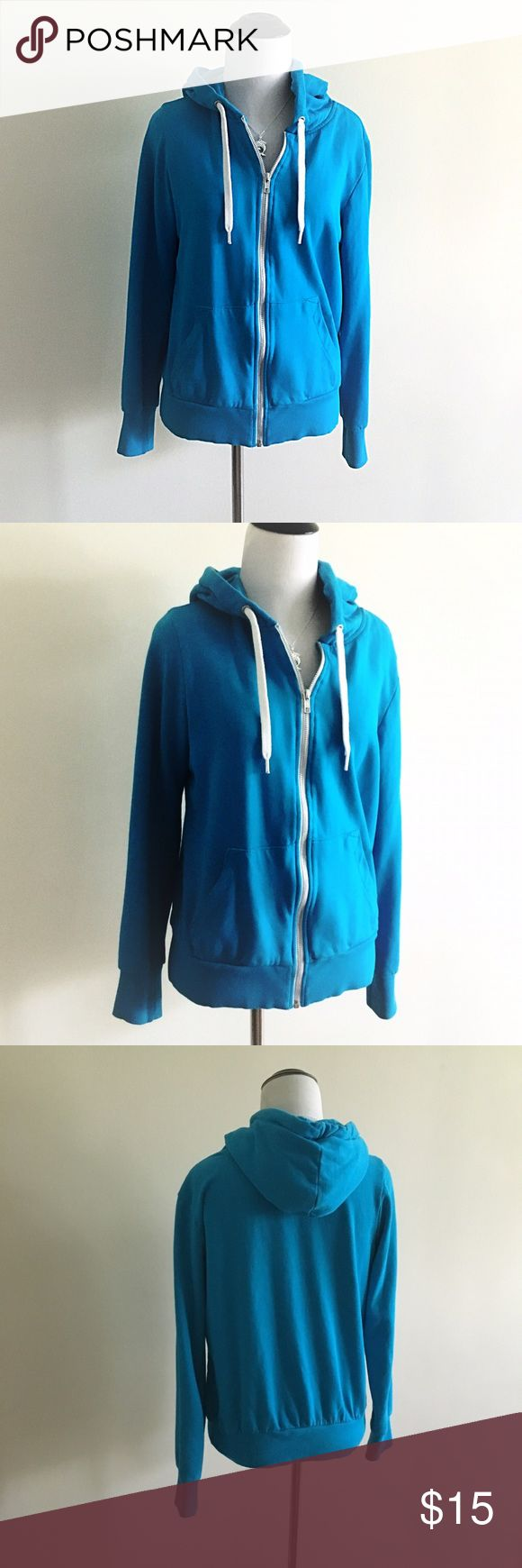 Divided H&M blue zip up hooded sweatshirt Divided H&M blue zip up hooded sweatshirt.  Practically new worn once in great shape. Divided Jackets & Coats