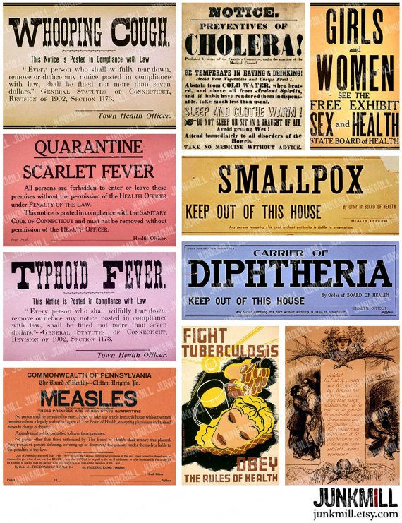 quarantine digital printable collage sheet vintage medical