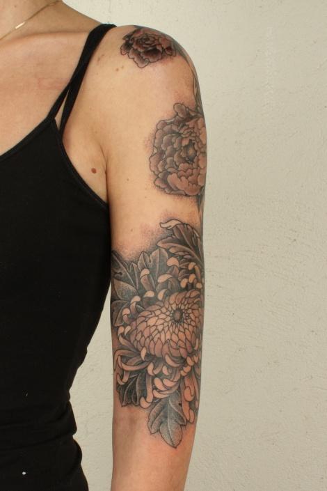 flower half sleeve