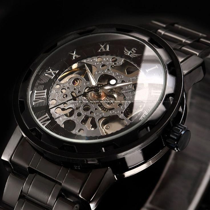 2016 new fashion skeleton black steel men male clock Sewor brand hollow cool stylish design classic mechanical wrist dress watch Nail That Deal http://nailthatdeal.com/products/2016-new-fashion-skeleton-black-steel-men-male-clock-sewor-brand-hollow-cool-stylish-design-classic-mechanical-wrist-dress-watch/ #shopping #nailthatdeal