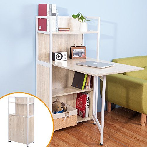 hideaway home office. delighful office life carver compact computer desk 4 display storage shelves with hideaway  folding study laptop table home office furniture oak on