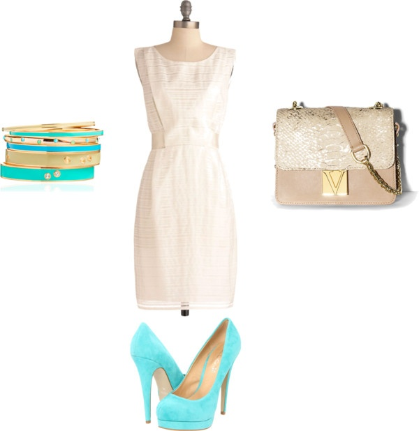 Simple Chic Summer Business Outfit, created by cheyenne-sampson on Polyvore-love!