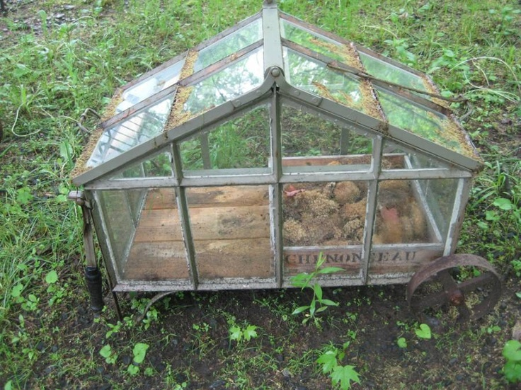 Fine Portable Greenhouse in potting shed from The Elemental Garden