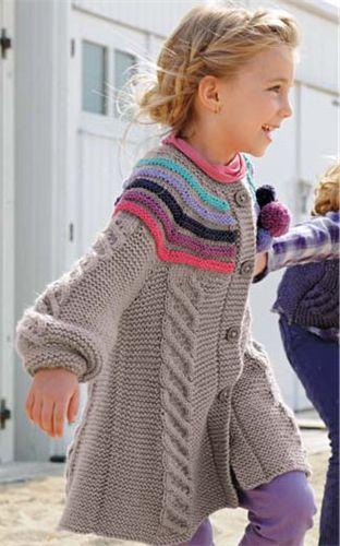 Bergere de France Coat & Hat Knitting Pattern