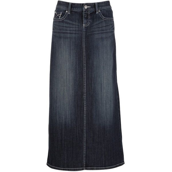contrast stitch denim denim skirt 39 liked on