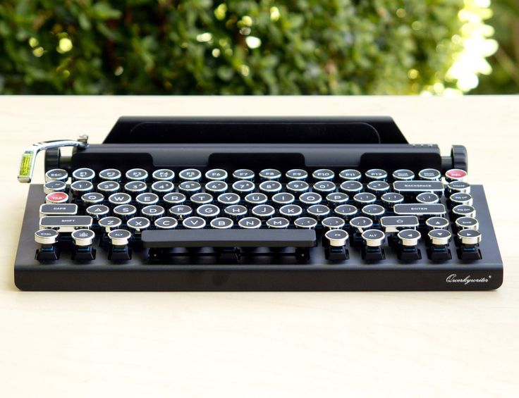 Channel your inner late 19th century writer with the Qwerkywriter Bluetooth Keyboard. This extremely detailed keyboard connects wirelessly to your devices