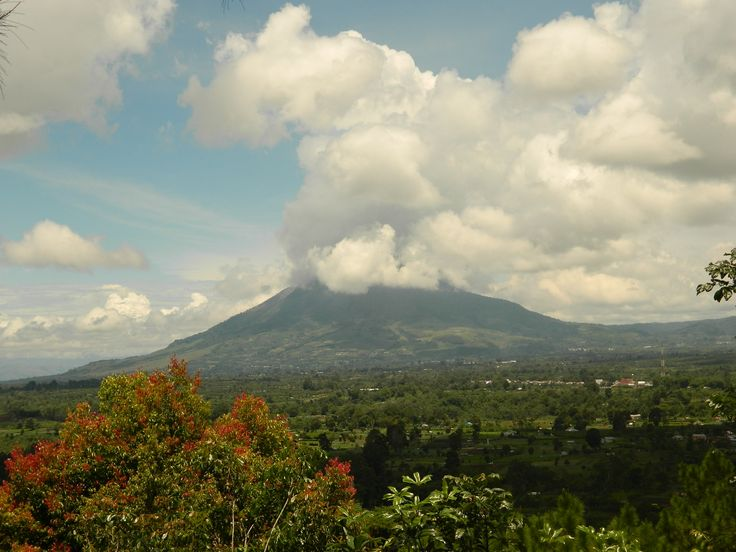 Mount Sinabung prior to recent eruptions
