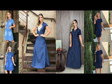 a93907469 Moda Feminina - Vestidos Jeans -Longos e Mids - Direto da 44 em Goiania 2019