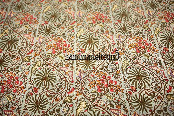 1 yard blok Print losse naaien katoenweefsel voor jurken