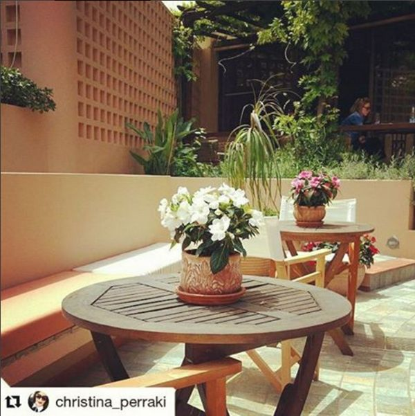 Chill-out moments at the open-air patio of Akali Hotel in Chania!  #AkaliChania #Chania #Crete #patio