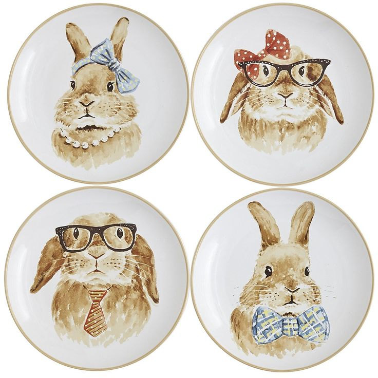 Pier 1 Easter Bunny Salad Plate Set I Need This