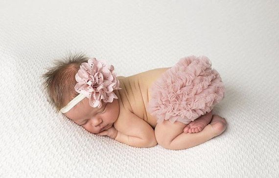 Bébé fille volant bas Bloomer & ensemble bandeau par coutureflower