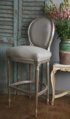 Wonderful French Antique Reproduction Louis XVI Oval Back Bar Stool skillfully hand carved and finished & 21 best bar stools images on Pinterest | Kitchen dining Bar stool ... islam-shia.org
