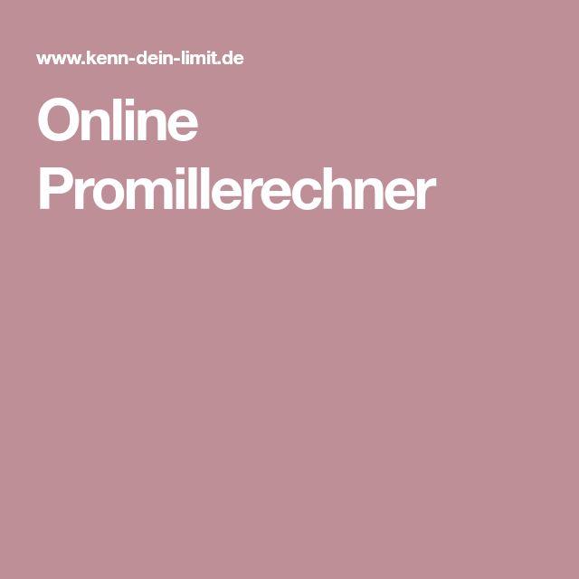 Online Promillerechner