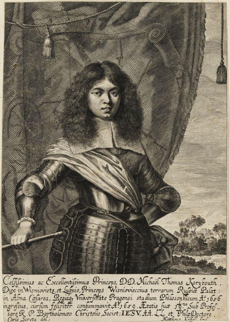 Prince Michael Korybut Wiśniowiecki at the age of 19 during his studies in Prague by Karel Škréta and Matthäus Küsel, 1659 (PD-art/old), Kunstsammlungen der Veste Coburg