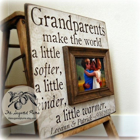 53 best images about gifts for grandparents on pinterest for Birthday gifts for grandma from granddaughter