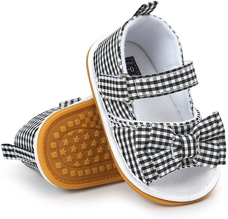 919432f08fa77 Amazon.com: CoKate Baby Toddler Boy Girls Bow Knot Sandals First ...