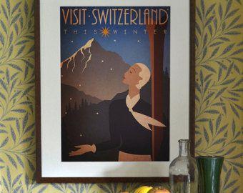 Original Design A3 A2 A1 Art Deco Bauhaus Poster by RedGateArts