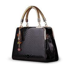 HOT 2014 módne dámske kabelky lakovaný kožená taška cez rameno tlač cukroví Farba brašna 5 farieb doprava zadarmo (Čína (pevninská časť))