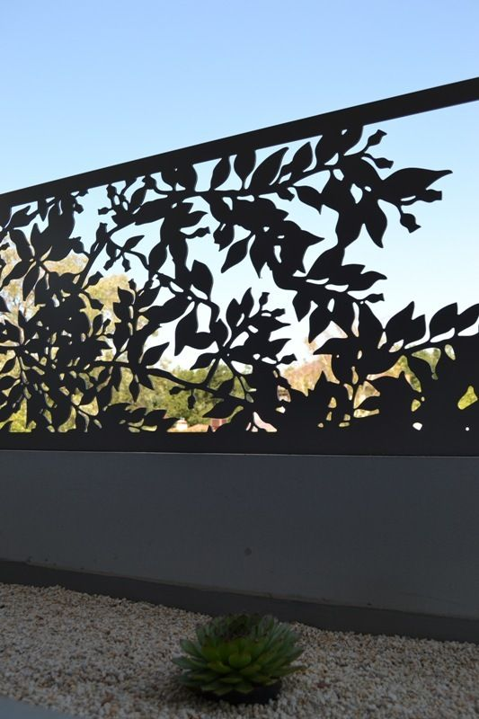 Garden Screens - create privacy with our 'Banksia Nut' panel, custom sized to suite.