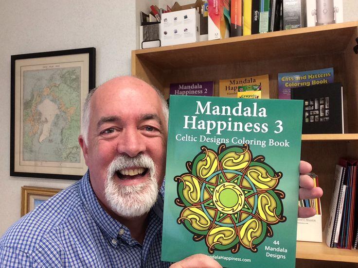 j bruce jones the creator of the mandala coloring book series holds volume 3 of - Coloring Book Creator