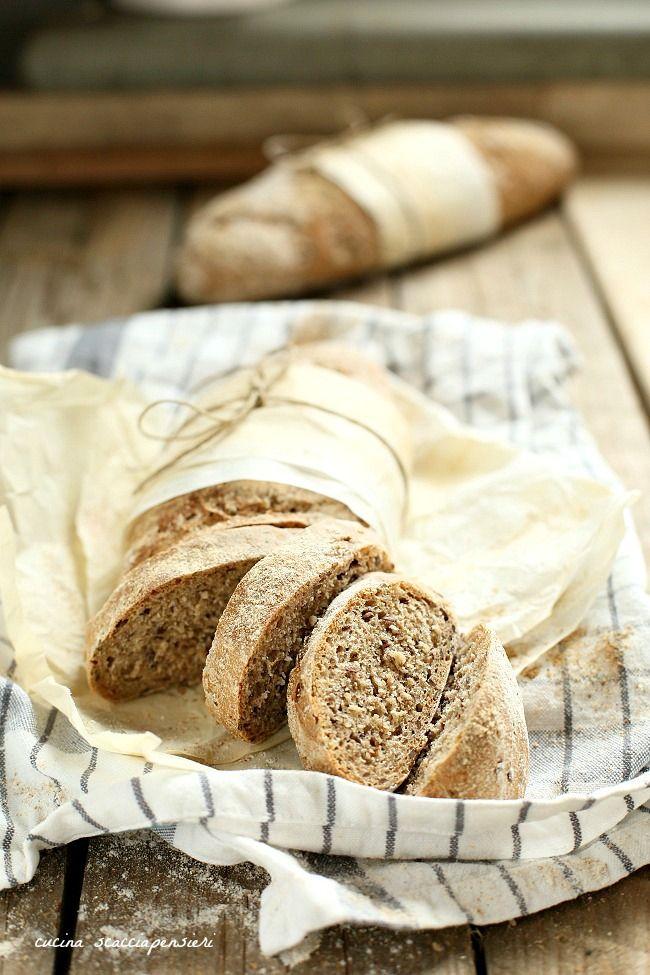 Cucina Scacciapensieri: Baguette al farro con semi di lino