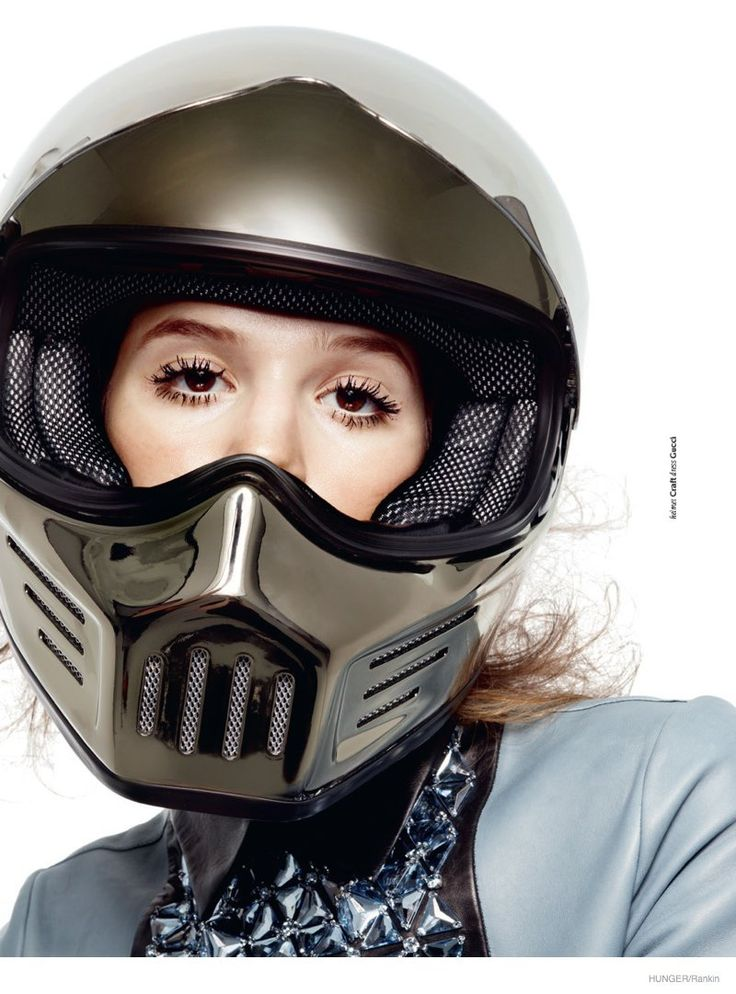 Anais Pouliot combines serious athletic protection with high impact fashion for Hunger Shoot by Rankin